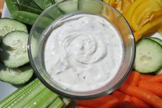 Chobani Ranch Dip- just 2 simple ingredients! 18 cals/Tbsp