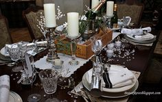 New year eve's table setting