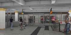 Artist impression of Town Hall Station's upgraded concourse area