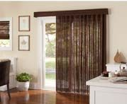 Natural Woven Sliding Panels on patio door. Sliding Panels, Paint Supplies, Patio Doors, Window Coverings, Blinds, Windows, Curtains, Living Room, Natural