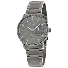 Kenneth Cole Men's Classics Gunmetal Stainless Steel Black Dial Watch | Overstock.com