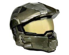 """Casco de """"Halo"""" para Moto #masterchief #halo #gamer #moto"""