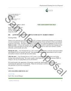 invoice letter template for professional services cleaning proposal letter