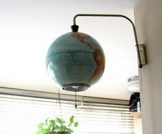 globe of world wall lamp...of course!