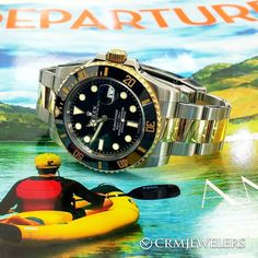 Wanna get away?!?  If yes what watch would you take? Two-Tone Sub Black Dial