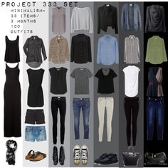 """Project 333 Minimal Capsule Wardrobe Set"""