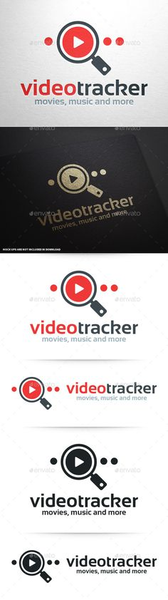 Video Tracker Logo Template — Vector EPS #online #magnifying glass • Available here → https://graphicriver.net/item/video-tracker-logo-template/10341602?ref=pxcr