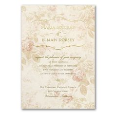 Wrapped Up in Vintage Pink Roses Wedding Invitations http://bustlingbride.carlsoncraft.com/Wedding/Wedding-Invitations/3285-RZ38757LB2-Wrapped-Up-in-Vintage--Invitation.pro