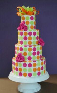 Cute polka dot cake