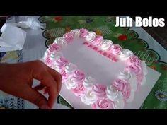 Bolo decorado com flores com o bico 1M - YouTube