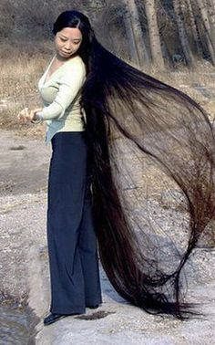 Awesome Really Long Hair Must Take Forever To Wash Hair Central Hairstyles For Men Maxibearus