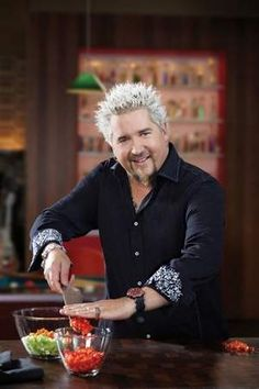 Guy's Big Bite teaches me a lot and also shows me different ways to do dishes from some other programs (like using a coffee grinder for spices). I also like the positive, upbeat spin Guy Fieri puts on his cooking process. Grillin And Chillin, Guy Fieri, Food Shows, Food Network Recipes, Chefs, Spin, Celebrity, Dishes, My Favorite Things