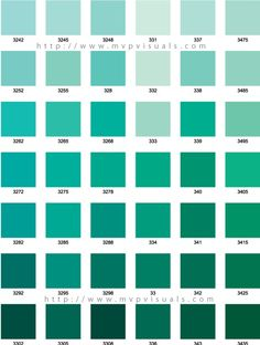 Turquoise Palette Share Green Blue Teal Seafoam Color