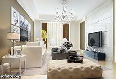 sala decorada apartamento