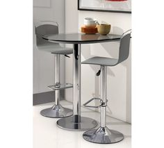 Mesa de cocina alta Single Fragolina con cristal templado 70x80x90. Mostrador en varios colores.