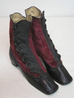 Circa 1860-1880 boots. I think i can make square toe boots look like this