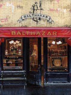 Balthazar.  Great for breakfast or brunch. Soho NYC,