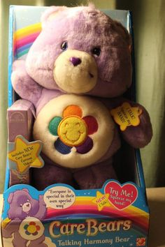 Care Bears Talking Harmony Bear Vintage with VHS Play Along plush New in Box