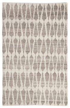 Sabot Geometric Rug in Whitecap Gray & Fallen Rock design by Jaipur