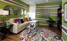 Décoration salon moderne avec des murs rayés ~ Décor de Maison / Décoration Chambre