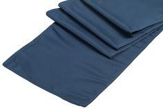 Lamour+Satin+Table+Runner+-+Navy+Blue