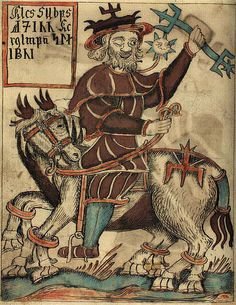 Odin on his horse Sleipnir,  from an Icelandic 18th century manuscript. The eight-legged horse of Odin is the typical steed of the shaman; in the shaman's journeys to the heavens or the underworld, they are usually represented as riding on some bird or animal. While the creature may vary, the horse is fairly common in the lands where horses are in general use.