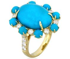 Yael Designs Paradise turquoise and diamond ring
