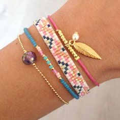 Bracelet stack - arm candy bracelets - wrist party - colorful hippie accessories