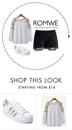 """""""Bez naslova #4"""" by belmma ❤ liked on Polyvore featuring adidas and Chicwish"""