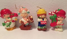 American Greetings Strawberry Shortcake Friends Christmas Ornaments