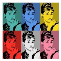 Audrey Hepburn series by Andy Warhol Andy Warhol Pop Art, Andy Warhol Obra, Roy Lichtenstein Pop Art, George Peppard, Audrey Hepburn, Marilyn Monroe, Pop Art Effect, Warhol Paintings, Mona Lisa
