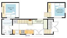 26 ft. GOOSENECK trailer, master bedroom above kitchen (more headroom), full size tub/shower, additional large sleeping loft, plenty of storage, separate dining & seating areas.
