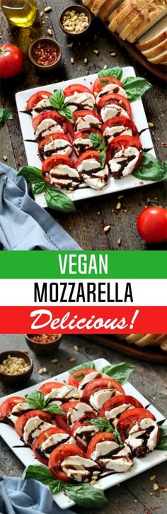 This Vegan Mozzarella Cheese is soft, fresh, creamy and delicious! It's the perfect substitute to its dairy counterpart. Dairy-free & gluten-free. Vegan Mozzarella Cheese - http://veganhuggs.com/vegan-mozzarella-cheese/