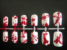 Dexter Inspired Nail Art Set by cuteicles on Etsy, $8.00