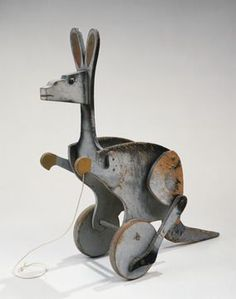"KANGAROO, 1927 Wood, paint, and string 18 1/2"" x 20"":"