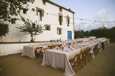 Retro-inspired Spain wedding and a Jenny Packham dress