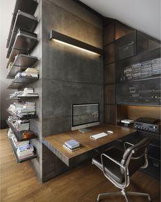 Perfect combination! #Concrete & #Wood l Loft 9b by Dimitar Karanikolov…