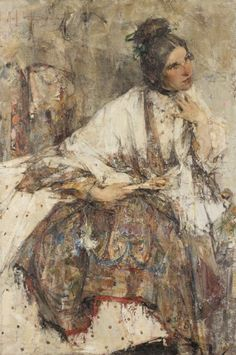 View Portrait of Mademoiselle Kitaeva By Nicolai Fechin; oil on canvas; Access more artwork lots and estimated & realized auction prices on MutualArt. Russian Painting, Russian Art, Figure Painting, Painting & Drawing, Nicolai Fechin, 26 November, Portrait Art, Portraits, Portrait Paintings