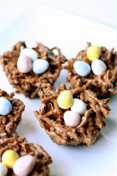 Fun for Easter - How to make a chocolate bird nest