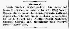 Genealogical Gems: On This Day: Watchmaker moves near railroad