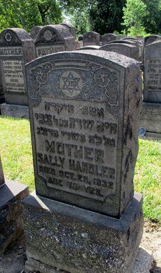 A Jewish Genealogy Journey: Tombstone Tuesday ~ Sally Handler (d. 1932) #genealogy