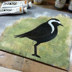 Next layers are coming up #shorebirds #birds #art #painting #mixedmedia