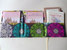 Ameroonie Designs: Personal Progress Packet tutorial Personal Progress/New YW packet - Holds PP book and Journal, For the Strength of Youth Pamphlet, and True to the Faith book as well as a pen. There should be no losing book now girls!!!