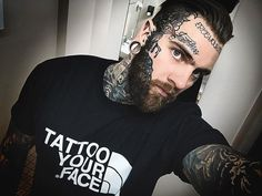 Tattoo Your Face Tees are back in stock. Tag us in your pictures 4 a feature Fall 2 Out Now Visit Our Store Today… Mens Face Tattoos, Cool Face Tattoos, Face Tats, Badass Tattoos, Body Art Tattoos, Tattoos For Guys, Dark Art Tattoo, Tattoo On, Stay Cold Apparel