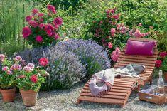 Liegeplatz mit Lavendel
