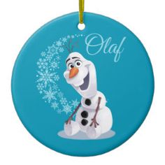 Olaf Snowflakes Double-Sided Ceramic Round Christmas Ornament