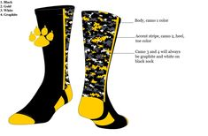 Look in style on the field with these custom digital crew socks especially designed in your colors for your team. Softball Uniforms, Team Uniforms, Sports Socks, Baseball Socks, Custom Socks, Calf Socks, Digital Camo, Black Socks, Accent Colors