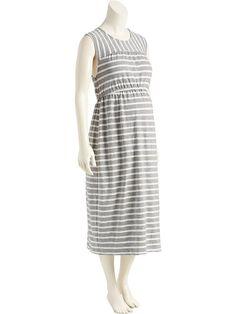 Maternity Sleeveless Midi Dress