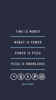 April Ludgate, Pizza is knowledge