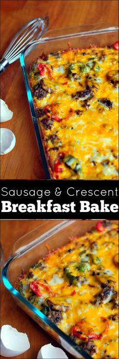 Sausage & Crescent Breakfast Bake | Aunt Bee's Recipes